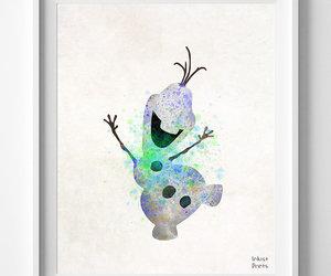 disney, frozen, and print image