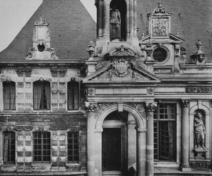 architecture, black and white, and old image