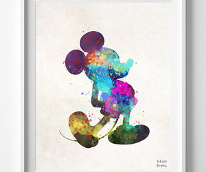 disney and watercolor image