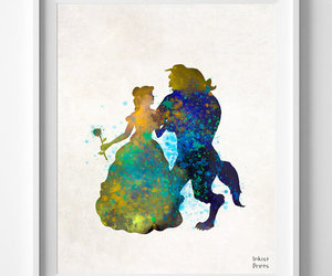 beast, beauty and beast, and print image