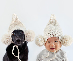 baby, vute, and dog image