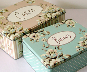 box, vintage, and biscuits image