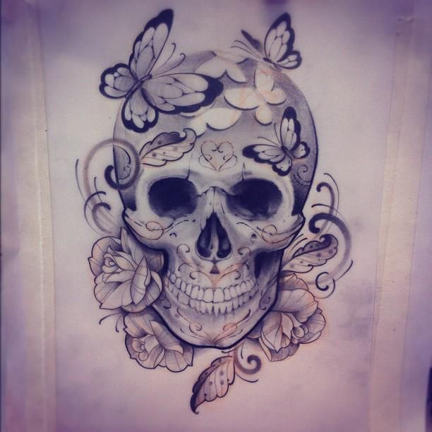 Skull Tattoo Shared By Dinika On We Heart It