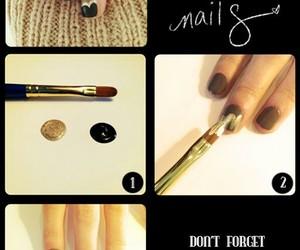 nails, diy, and art image