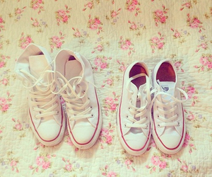 shoes, all star, and white image