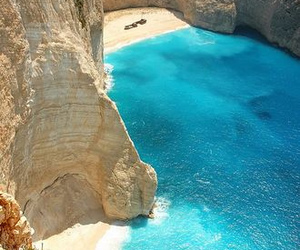 beach, sea, and Greece image