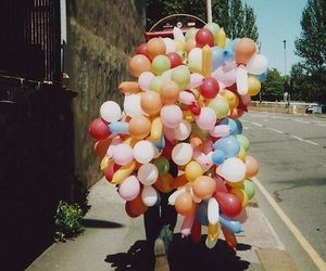 balloons, hipster, and happy image