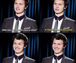 tfios, love, and ansel elgort image