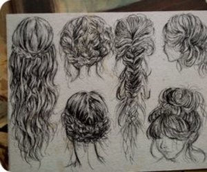 draw, hair, and cool image