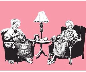 punk, pink, and BANKSY image