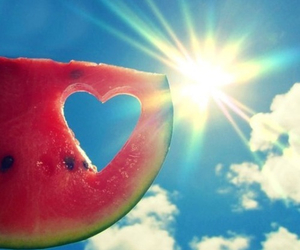 summer, watermelon, and sun image