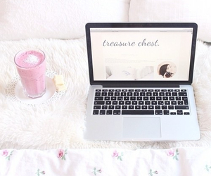 healthy, macbook, and pink image
