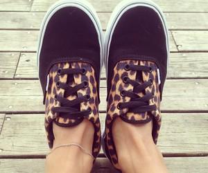 vans, shoes, and leopard image