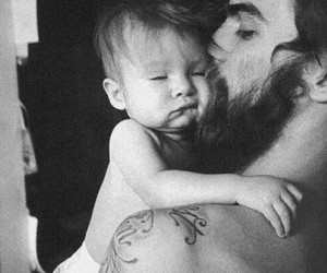 baby, beard, and Tattoos image