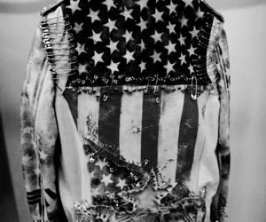 jacket, usa, and black and white image