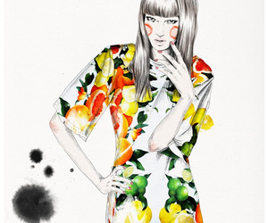 fashion illustration, illustration, and esra roise image