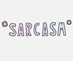 sarcasm, quote, and tumblr image