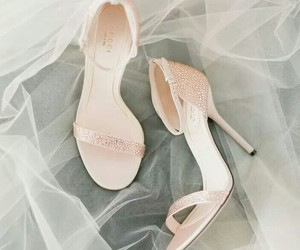 shoes, wedding, and pink image