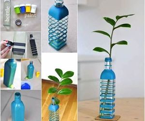 diy, bottle, and blue image