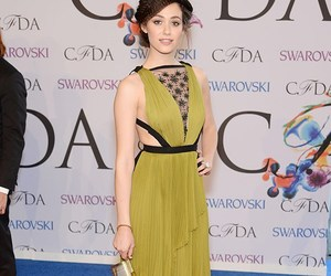 CFDA, emmy rossum, and green image