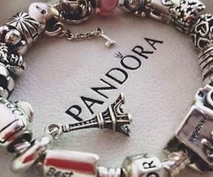 bracelet, pandora, and jewellery image