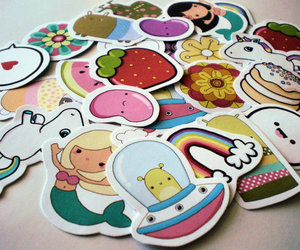alien, kawaii, and stickers image