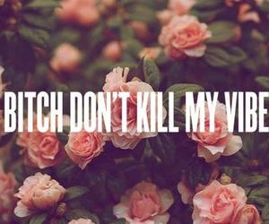 bitch, vibe, and quotes image