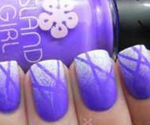 girly, purplenails, and summertimenails image