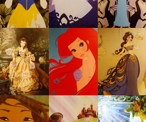 disney, ariel, and belle image
