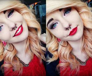 blue eyes, septum, and fillieh famous image