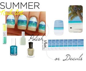 beach, beauty, and nail art image