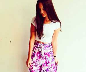 clothes, floral, and pants image