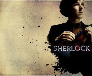 sherlock and violin image