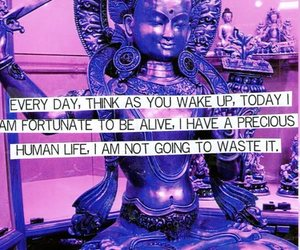 life, quote, and purple buddha project image