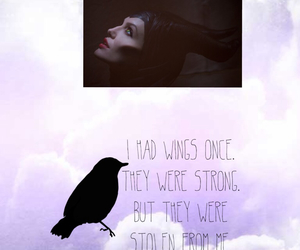 black, clouds, and crow image