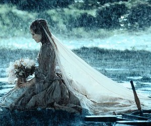 bride, pirates of the caribbean, and rain image