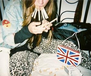 cigarettes, leopard print, and fashion image