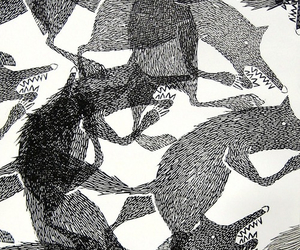 wolf and pattern image