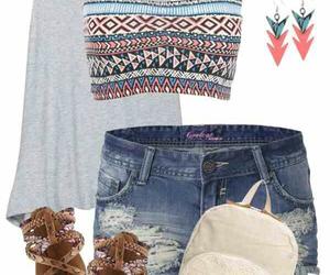 outfit, summer, and tribal image