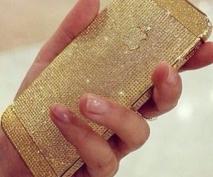 bling, diamonds, and gold image