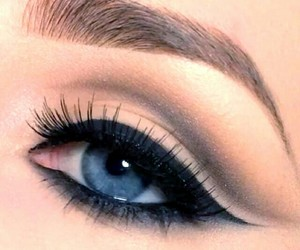 eye, eyeliner, and fashion image