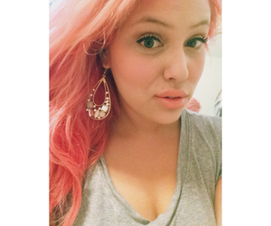 earrings, redhair, and haircolor image