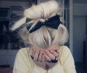 black, blonder, and hair style image