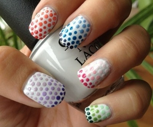 nails, dots, and colors image