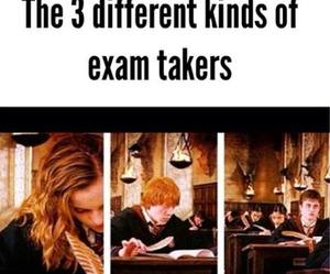 exams, finals, and harry potter image