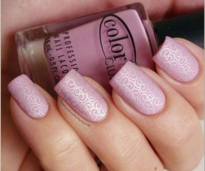 nail, nails, and pink image