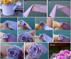 rose, diy, and Paper image