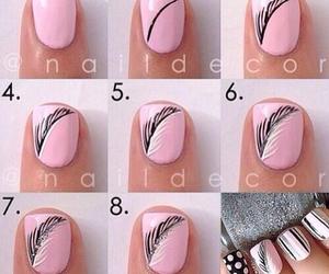 negro, uñas, and rosado image