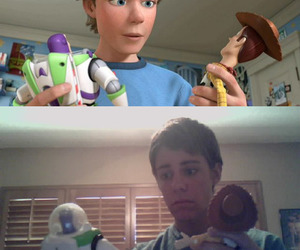 toy story, andy, and funny image