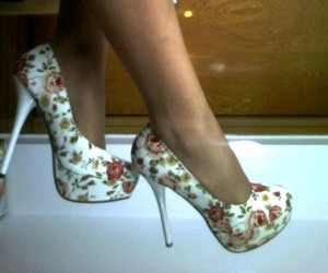 beautiful, flowery, and heels image